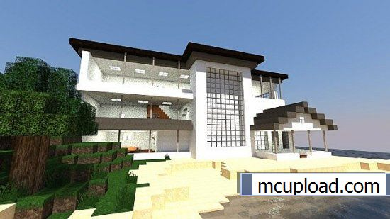 A Modern House Map For Minecraft - Minecraft house map