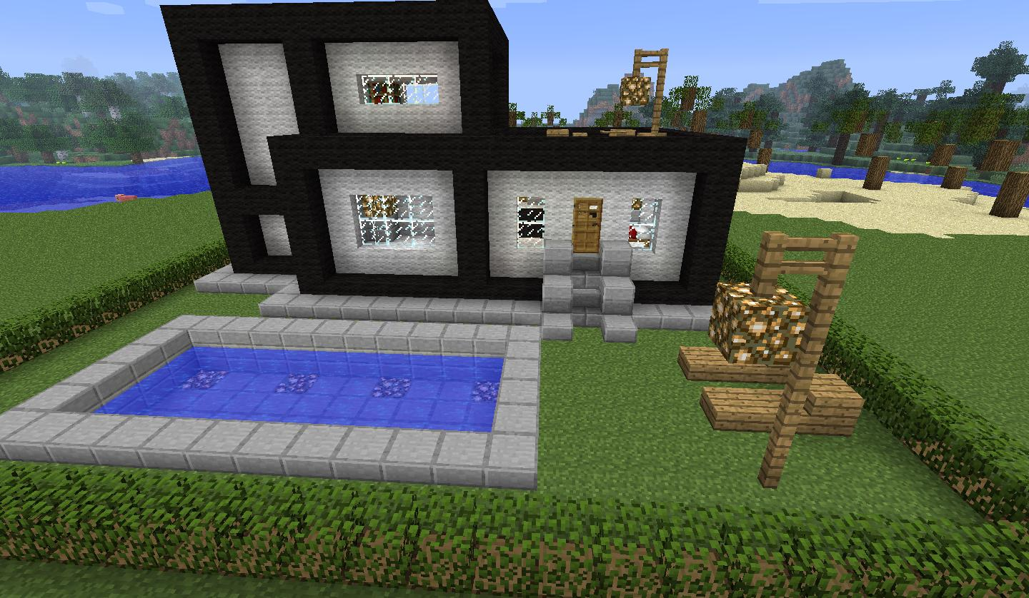 A modern house map for minecraft 1 8 1 for Big modern houses on minecraft