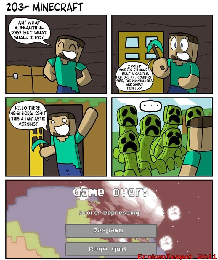 Funny Minecraft Comics Azminecraft Info