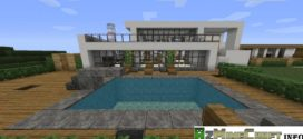 download and install minecraft modern house map mostly made of white wool with wood and lightstone used at the lighting images resource pack misas - Biggest House In The World Minecraft