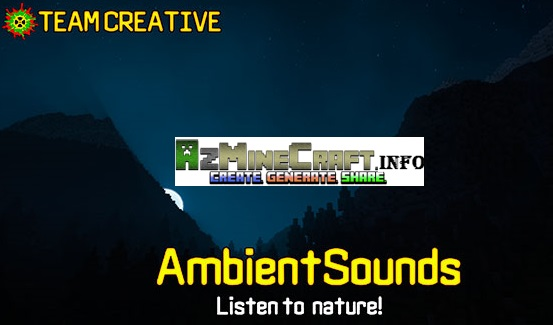 Ambient Sounds Mod For Minecraft - Mini map para minecraft 1 10 2