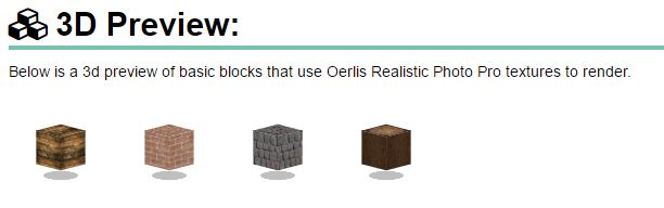 Oerlis Realistic Photo Pro Resource Pack 3D